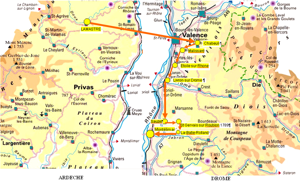 Carte montelimar - La chaine meteo montelimar ...